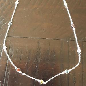 Jewelry - Silver Rainbow Stone Necklace